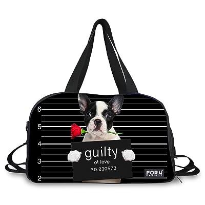 eedd61a834 good HUGS IDEA 3D Pet Dog Travel Dffel Tote Weekender Overnight Bag with  Shoulder Straps