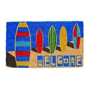 "Entryways Surf Boards Hand Made Coir Doormat 18"" x 30"""