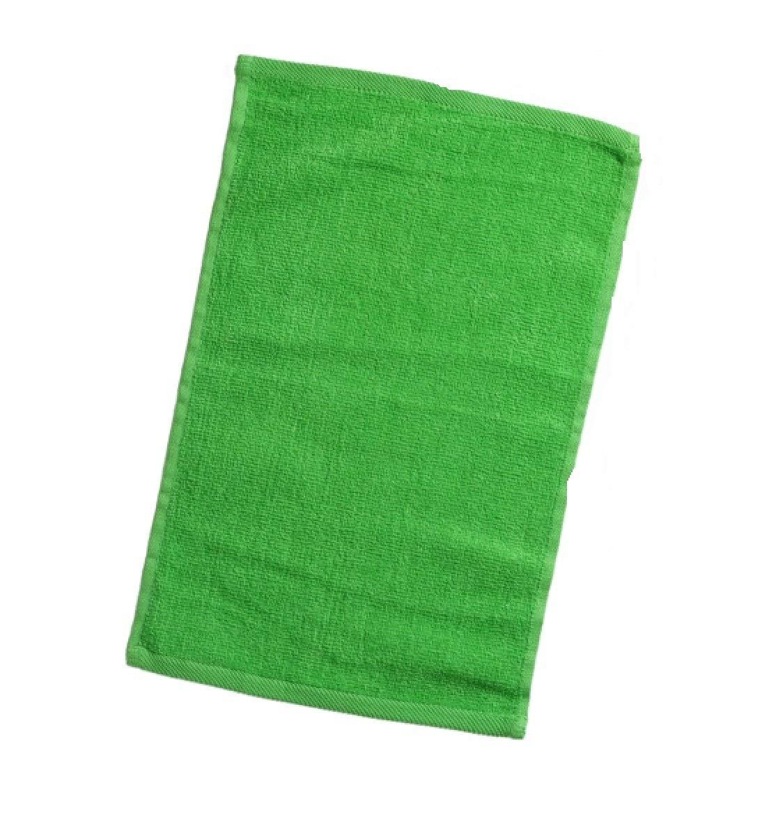 Georgiabags Wholesale Bulk Fingertip Towels, Economy Hemmed Fingertip Terry Velour Towel 11in x 18in, 100% Cotton (240, Lime)
