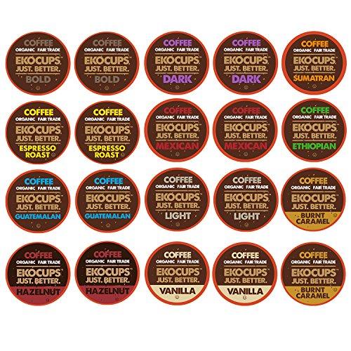 EKOCUPS Organic Gourmet Coffee Single