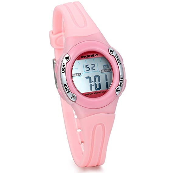 Jewelrywe reloj deportivo para niñas niños reloj digital multifunciones de aire libre, reloj rosa para niña: Amazon.es: Relojes