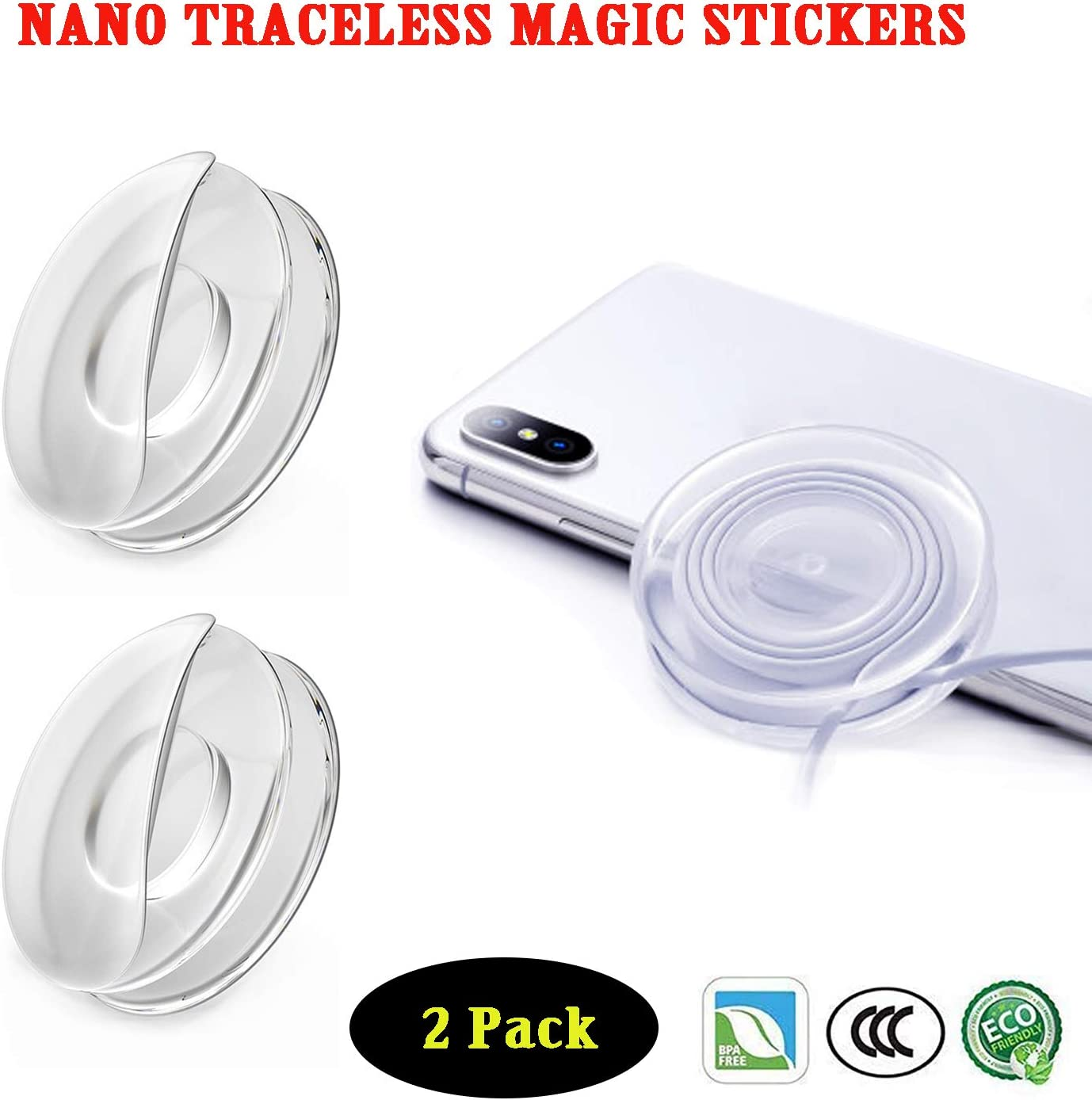 4 Pack Home Office Storage of Various Small Device and Items,Easy Remove. Sticky Gel Pads Magic Sticker,Universal Non-Slip Mats, Washable Reuse,Suitable Nano Casual Paste for Car