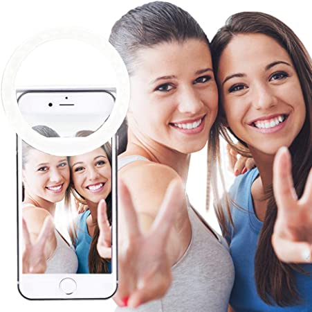 TikTok Facebook Transmisi/ón en Vivo Anillo de luz Recargable Selfie Light Ring Maquillaje Aro de Luz para M/óvil Port/átil para Youtube Aro de luz Selfie Vlog