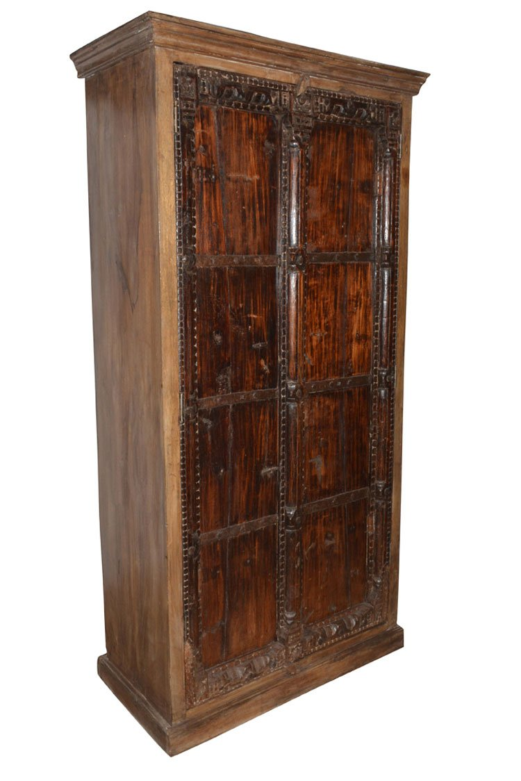 Armoire Storage Warbdrobe Reclaimed Antique Vintage Patina Indian Furniture Spanish Moroccan Design Interiors by Mogul Interior (Image #3)