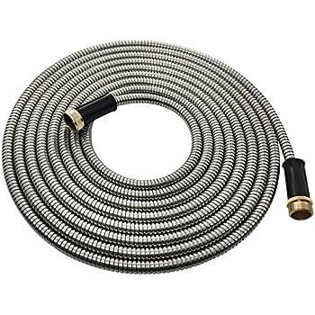 hose hero stainless steel garden hose lightweight kink free metal garden hose 25u0027 - Garden Hose Storage