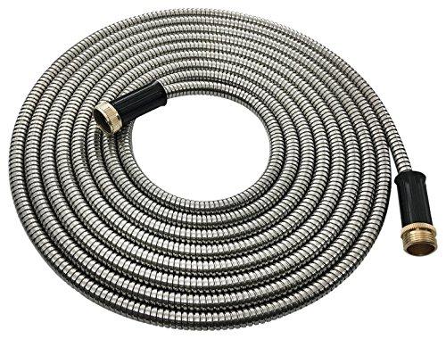 25' Diameter Metal - Hose Hero - Stainless Steel Garden Hose, Lightweight, Kink Free, Metal Garden Hose (25')