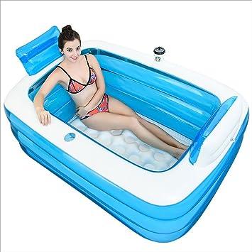 Lqqgxl Bath Baignoire Gonflable Epaississement Baignoire Adulte
