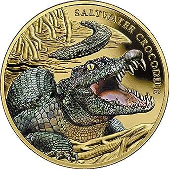 2018 NU Modern Commemorative SALTWATER CROCODILE 1 Oz Gold Coin 100$ Niue 2018 1 Oz Proof