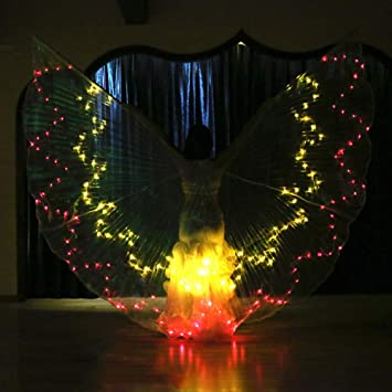 Belly Dance LED ISIS Wings Glow Light Up Disfraces con Palos ...