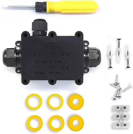 2-Pack IP68 CONNETTORE ESTERNO Scatola Di Derivazione Impermeabile Connettore Cavo all/'aperto