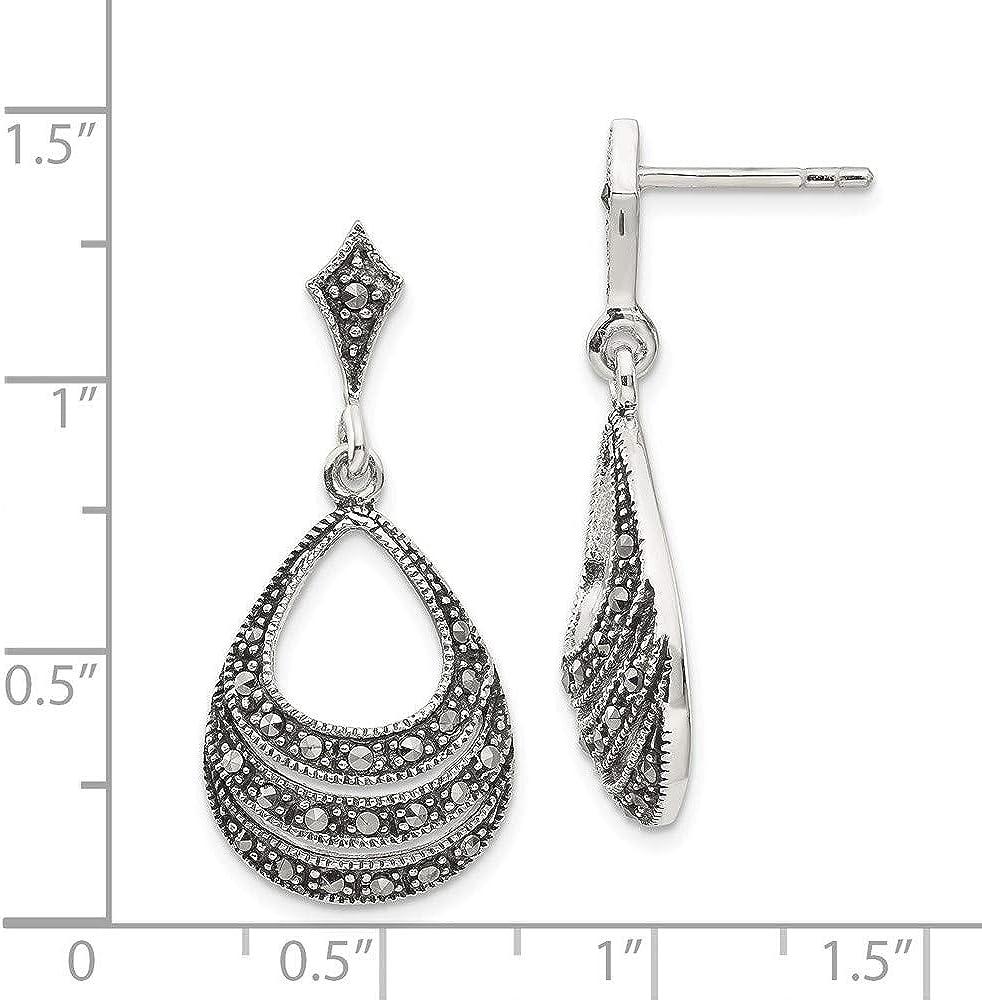 925 Sterling Silver Rose Drop Dangle Chandelier Post Stud Earrings Flower Gardening Fine Jewelry For Women Gifts For Her