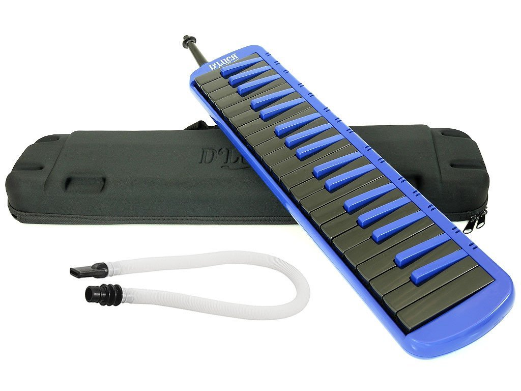 D'Luca M37-EVA-BL Blue 37 Key Jungle Melodica with EVA Carrying Case by D'Luca (Image #2)
