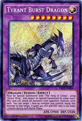 Dragon Secret Rare Card (Yu-Gi-Oh! - Tyrant Burst Dragon (DRL2-EN004) - Dragons of Legend 2 - 1st Edition - Secret Rare)