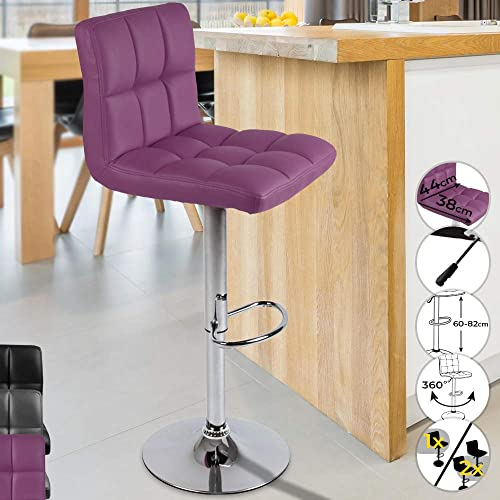 Miadomodo LBHK01- Purple Bar Stool