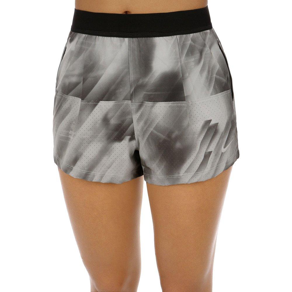 Nike Women's Dri-Fit Woven Tennis Shorts-Gray-Large