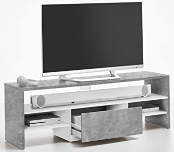 Fmd Möbel Mobile Tv 150 X 40 X 505 H Cm Grau Weiß Foliert 116