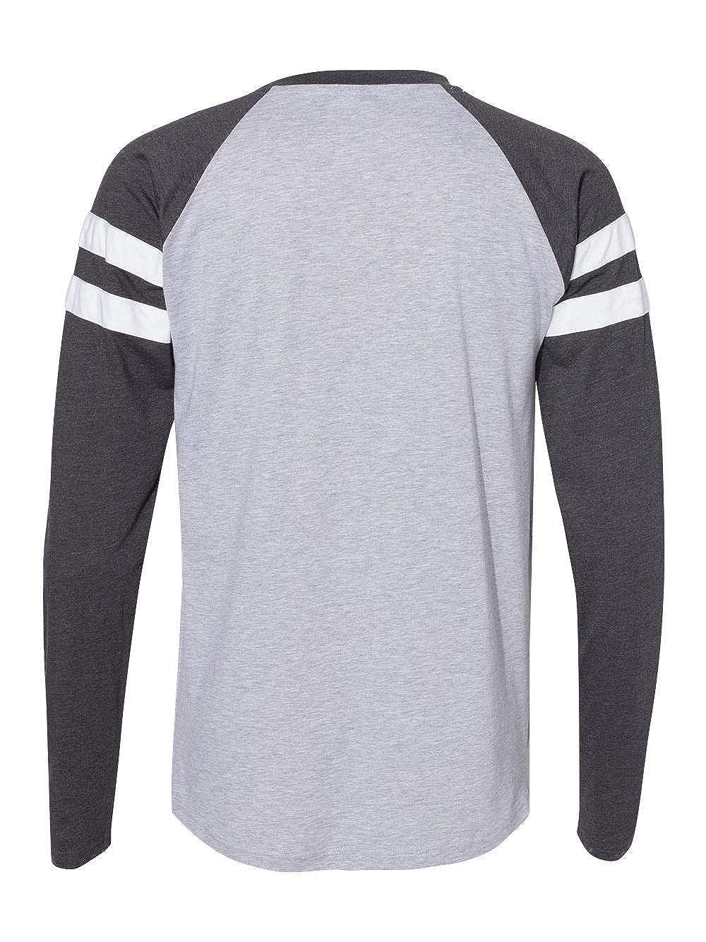 LAT Mens Gameday Mash-up Long Sleeve Fine Jersey Tee
