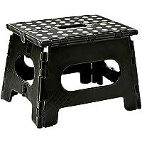Portable Flat Folding Step Stool Ladder Non Slip Caravan Camping Seat Chair 22/39CM (M/H 22cm x W 29cm x D 22cm)
