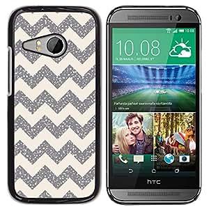 For HTC ONE MINI 2 / M8 MINI Case , Pattern Silver Sparkle Stars - Diseño Patrón Teléfono Caso Cubierta Case Bumper Duro Protección Case Cover Funda