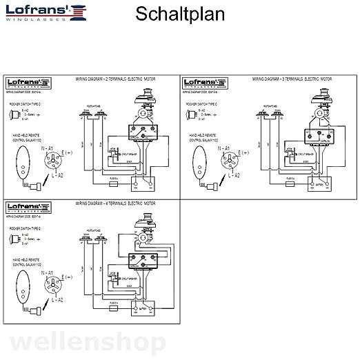 Ankerwinde Lofrans X1 Bronze 500W Kette 6mm Seil 10-12mm: Amazon.de ...