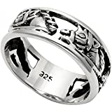 Sterling Silver Openwork Horse Head Band Ring