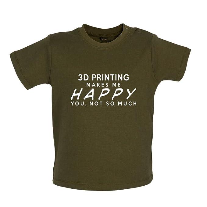 eb336cbd0 Dressdown playa voleibol makes me happy - Camiseta para bebé bebé   Amazon.es  Ropa y accesorios
