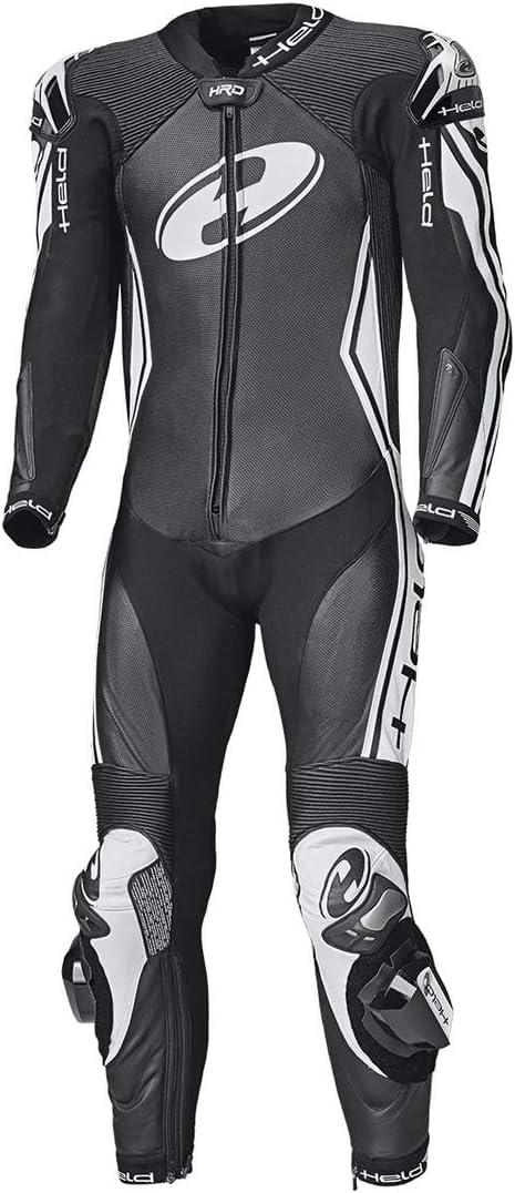 Held Full-Speed Einteilige K/ängurulederkombi Gr/ö/ße 34 Farbe Weiss-schwarz