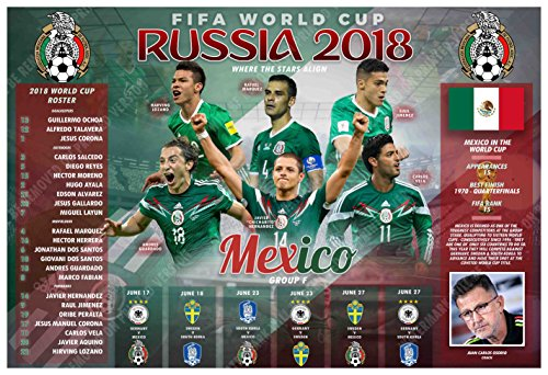 PosterWarehouse2017 MEXICO'S 2018 WORLD CUP SOCCER TEAM COMMEMORATIVE - Pictures Cup Soccer World