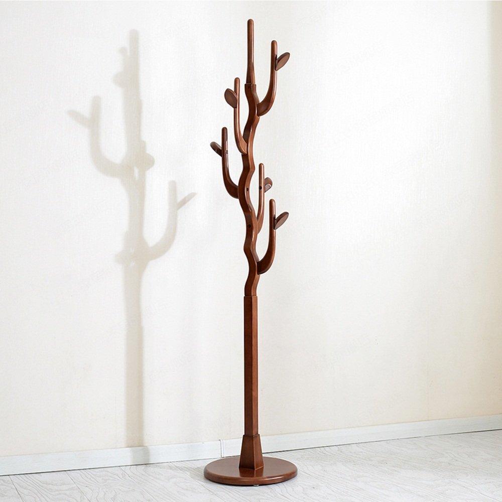 Home Simple Coat Rack / Floor Solid Wood Creative Bedroom Small Furniture Hanging Hanger Tree ( Color : Wine red )