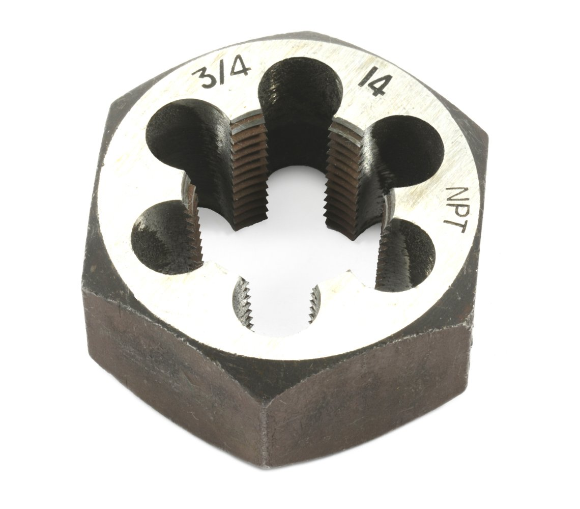 Forney 21146 Pipe Die Industrial Pro Hex Re-Threading Carbon Steel, Right Hand, 3/4-Inch-by-14 NPT