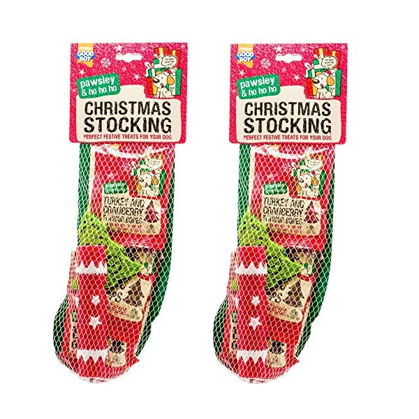 NEW-2-PACK-GOODBOY-CHRISTMAS-DOG-STOCKING-FESTIVE-CHRISTMAS-TREATS-TOYS-10210
