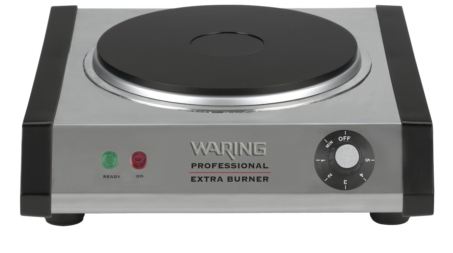 amazoncom waring commercial web300 heavyduty commercial castiron single burner electric countertop burners kitchen u0026 dining