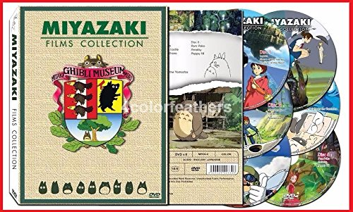 Hayao Miyazaki & Studio Ghibli Deluxe 17 Best Movie Collection (6 Discs) All with English Language Tracks