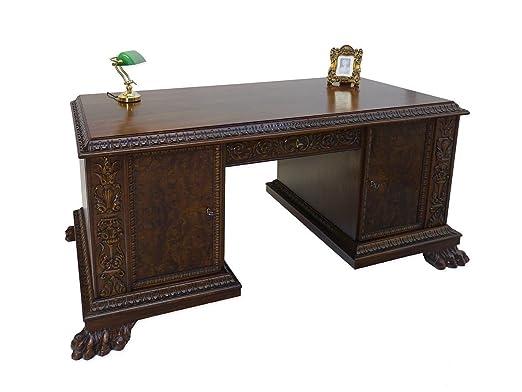 Mesa de escritorio clásica alrededor de 1930/dados de madera de ...