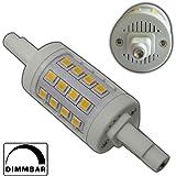 1x R7s LED Strahler 78mm rund 6 Watt dimmbar 32x SMDs warmweiß Leuchtmittel Lampe Halogen j78 Fluter Standleuchte Brenner Scheinwerfer