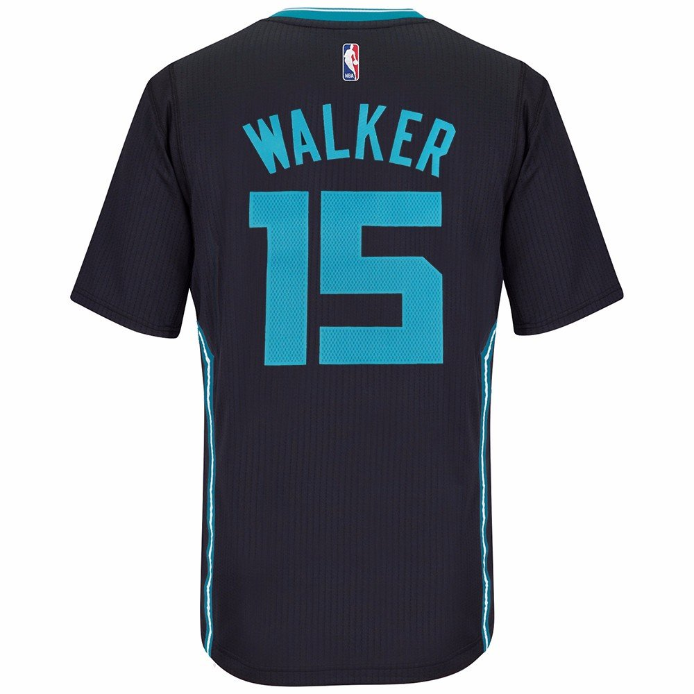 newest 2bc7c aa717 Kemba Walker Charlotte Hornets Adidas Swingman Black Buzz ...