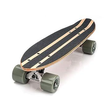 Monopatín patineta Retro Madera Skateboard Completo niños jóvenes Adultos Mejor Calidad Robusto Ligero Ruedas un Skateboard