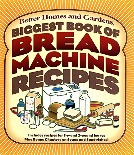 Biggest Book of Bread Machine Recipes (Better Homes and Gardens Cooking) by Better Homes and Gardens