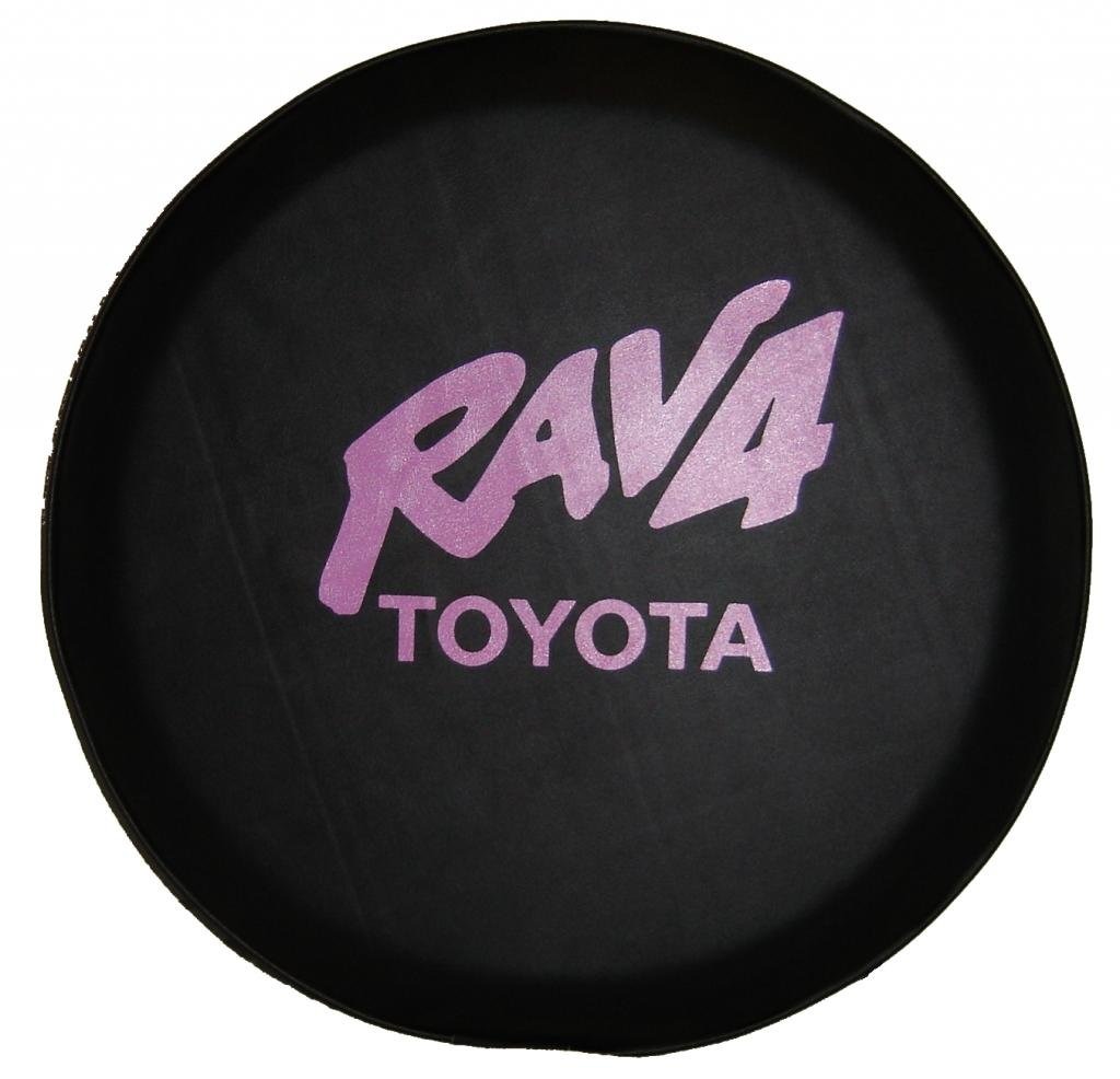 SpareCover abc-Rav4-28-pink ABC Series Black 28'' Tire Cover with Pink Toyota RAV4 Design