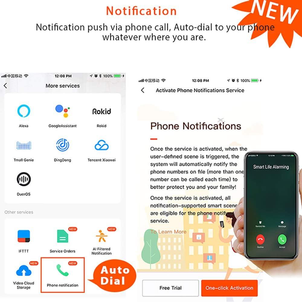 Bleu Alarme Smart Life APP Control Alarme WiFi / Alarme sonore et Lumineuse