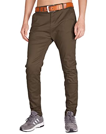 35e671e9c5b ITALY MORN Men s Slim Chino Pants Stretch Casual Khaki at Amazon ...