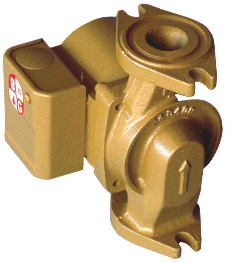 BELL & GOSSETT 103260LF Bell & Gossett Nbf-12F/Lw Bronze Wet Rotor Circulator Pump