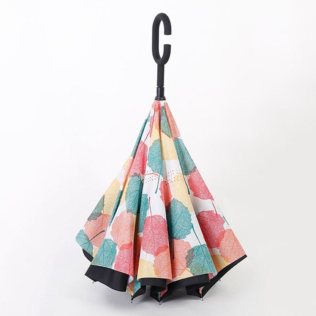 GAOYANGyusan GAOYANG Reverse Umbrella For Hands-free Creative Umbrellas For Automatic Cars Double-handle Umbrellas For Men And Women Umbrella Umbrellas