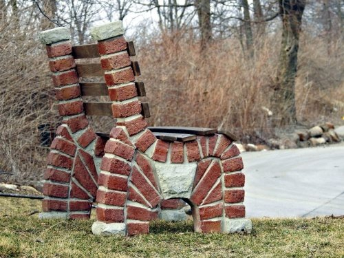 Stacked Arch Brick Bench Precast Concrete Mold Set