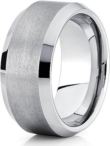 Silver Tungsten Wedding Ring,Tungsten Carbide Ring,Anniversary Ring,Men /& Women,Tungsten Wedding Band,Unique Tungsten Ring,Brush Ring