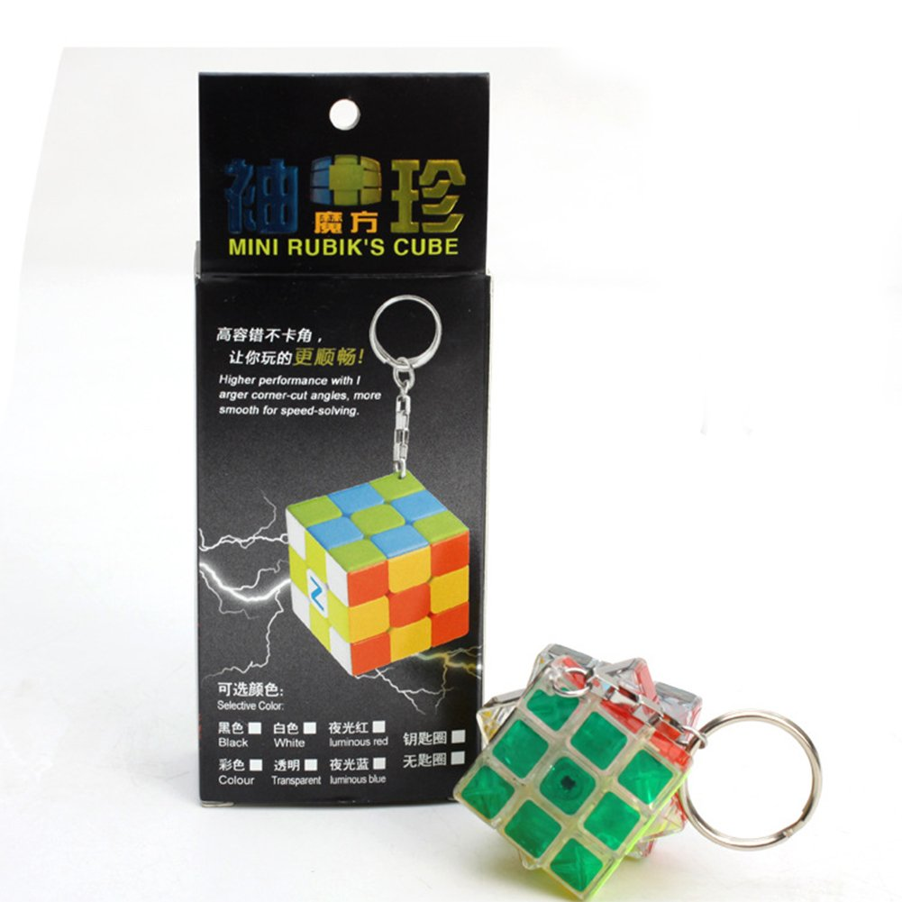 Faironly 3 cm Mini Pequeño 3 x 3 Magic Cube Creative Key ...