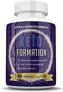 Keto Formation Extra Strength Formuila - Energy - Weight Management and Metabolism Support - 6o Capsules - 1 Month Supply