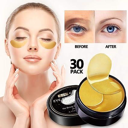 Amazon.com: Vanelc - 30 pares de máscaras de ojos de oro de ...