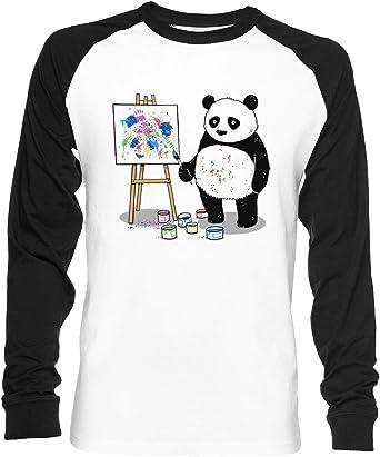 Pandas Pintar Vistoso Imágenes Unisex Camiseta De Béisbol ...