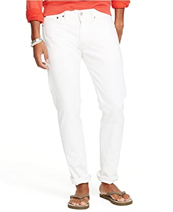 7004bd102 Denim and Supply Ralph Lauren Mens Straight Fit Jeans White at Amazon Men s  Clothing store